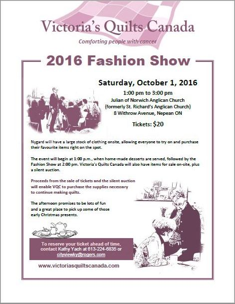 2016 Fashion Show Flyer