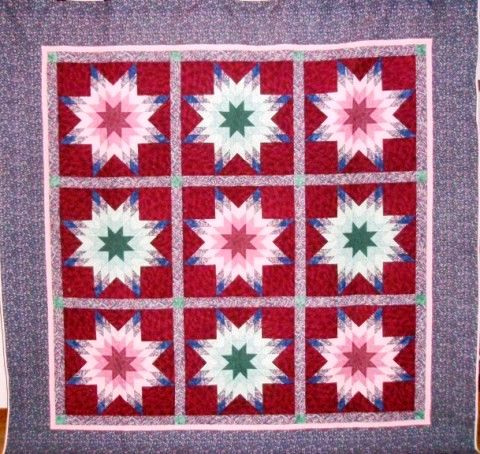 Second prize: Radiant Stars quilt