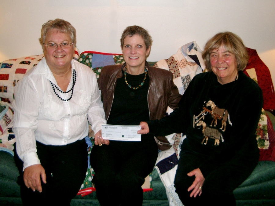 Photo of Heather Hannaford, Deborah Wood and Kathy Yach