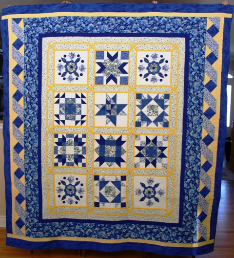 First prize: Beautiful in Blue quilt