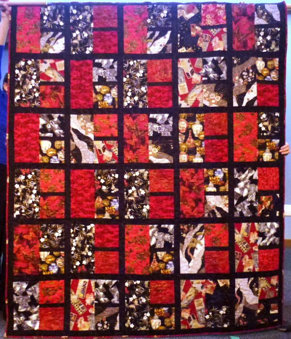 First prize quilt: Asian Influence