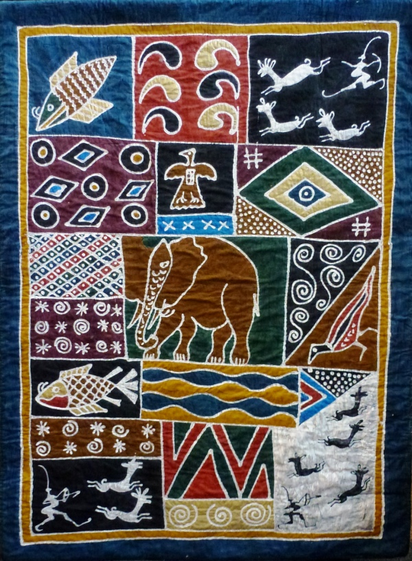 Second prize quilt: Out of Africa